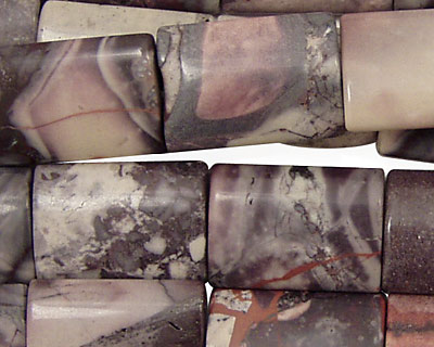 Porcelain Jasper Thin Pillow 18x13mm
