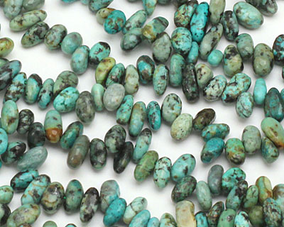 African Turquoise Pebble Drops 4-6x6-8mm