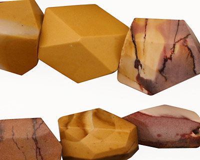 Mookaite Faceted Nugget 15-25x13-20mm
