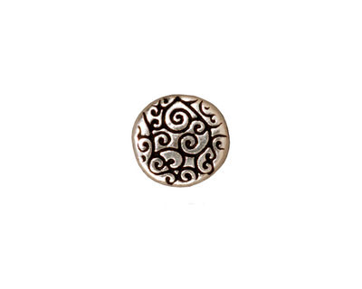 TierraCast Antique Silver (plated) Round Scroll Bead 12mm
