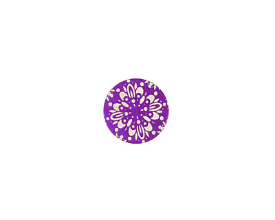 Lillypilly Purple Kaleidoscope Anodized Aluminum Disc 11mm, 24 gauge
