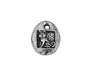 Green Girl Pewter Little Blessings Puppy Love 15x18mm