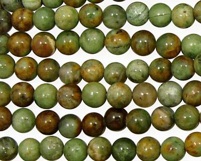 Petrified Green Opal Round 6mm