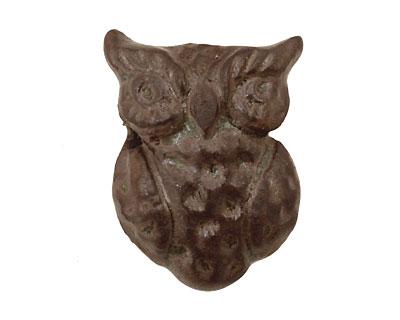 Gaea Ceramic Antique on Chocolate Owl 22x30mm