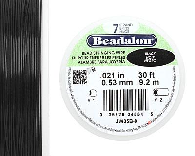 Beadalon Black .021