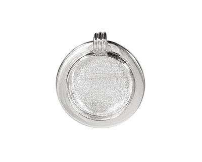 Silver (plated) Lipped Circle Bezel 23mm