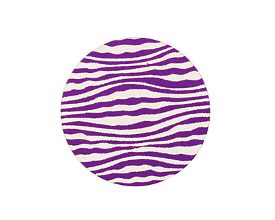 Lillypilly Purple Zebra Anodized Aluminum Disc 25mm, 24 gauge