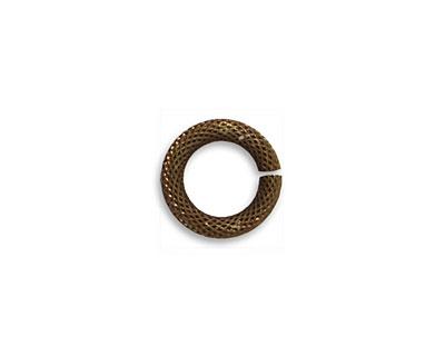 Vintaj Natural Brass Heavy Rope Jump Ring 12mm