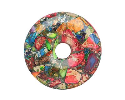Mardi Gras (Mixed Impression) Jasper Donut 50mm