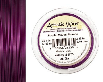 Artistic Wire Purple 26 gauge, 30 yards