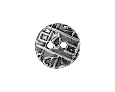 TierraCast Antique Pewter (plated) Round Coin Button 18mm