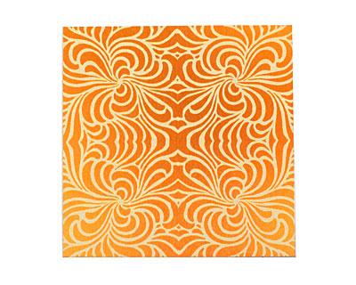 Lillypilly Orange Morphed Anodized Aluminum Sheet 3