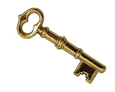 Stampt Antique Gold (plated) Skeleton Key 42x13mm
