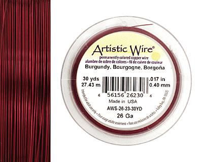 Artistic Wire Burgundy 26 gauge, 30 yards