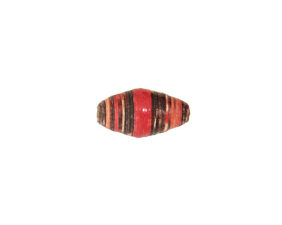 African Paper (red, cream, chocolate) Rice 15x8-9mm