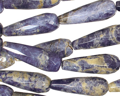Sodalite Faceted Teardrop 30x10mm