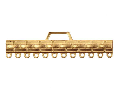 Brass Woven Bar 1-12 Link 12x48mm