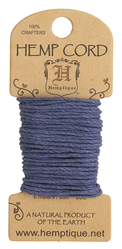 Blue Hemp Twine 20 lb, 20 ft