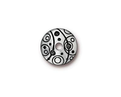 TierraCast Antique Silver (plated) Large Hole Orbit Bead Cap 3x14mm