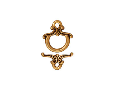 TierraCast Antique Gold (plated) Keepsake Toggle Clasp 12xmm, 13mm Bar