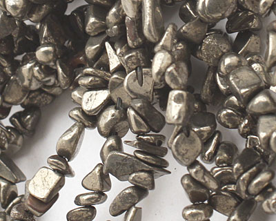 Golden Pyrite (silver tone) Chips
