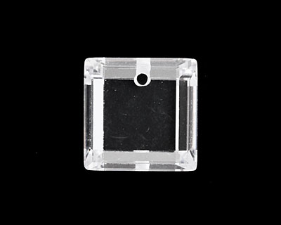 Crystal Clear Faceted Square 18mm