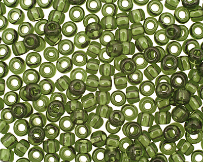 TOHO Transparent Olivine Round 6/0 Seed Bead