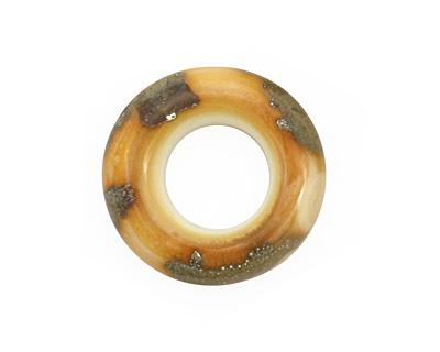 The BeadsNest Lampwork Glass Sparkling Sand Ring 22-23mm