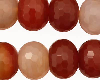 Carnelian (natural) Faceted Rondelle 14x18mm