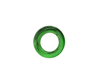 African Recycled Glass Emerald Dogun Mini Ring 10-14mm