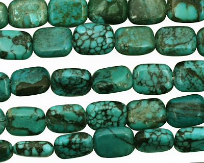 Chinese Turquoise Thin Pillow 8x6mm
