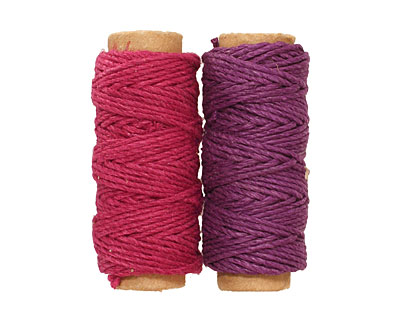 Purple/Burgundy Hemp Twine 20 lb, 29 ft x 2 colors