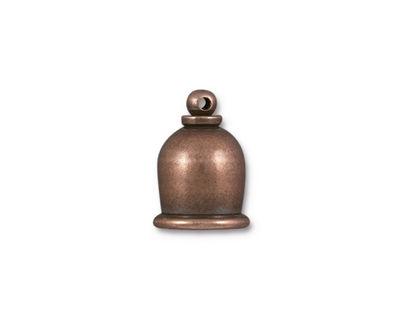 TierraCast Antique Copper (plated) Taj 8mm Cord End 16x12mm