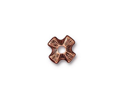 TierraCast Antique Copper (plated) Cross Rivetable 11mm