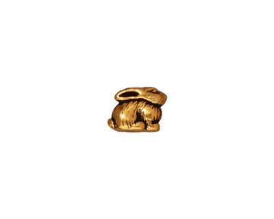 TierraCast Antique Gold (plated) Bunny 7x5mm