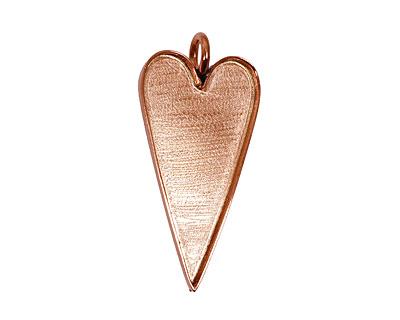 Copper Heart Bezel 29x53mm