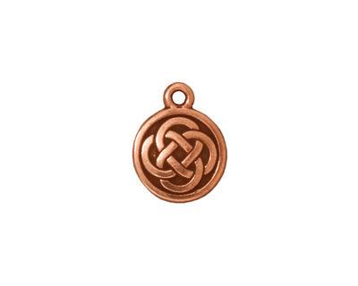 TierraCast Antique Copper (plated) Celtic Round Charm 12x15mm