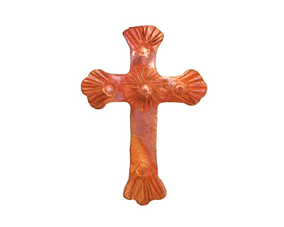 Patricia Healey Copper Small Textured Cross 21x30mm