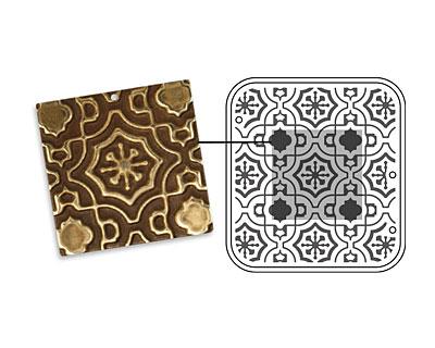 Vintaj DecoEmboss Die Moroccan Tile 2 3/8