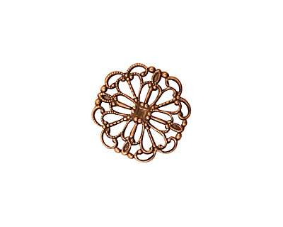 Stampt Antique Copper (plated) Wildflower Filigree 15mm