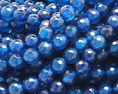 Sky Blue Agate Faceted Round 6mm