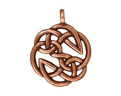 TierraCast Antique Copper (plated) Open Knot Pendant 23x30mm