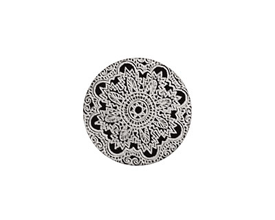 Lillypilly Black Lace Anodized Aluminum Disc 19mm, 22 gauge
