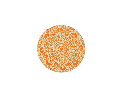 Lillypilly Orange Lace Anodized Aluminum Disc 19mm, 24 gauge