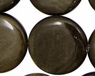 Rainbow Obsidian Puff Coin 30mm
