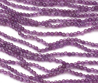 Amethyst Faceted Round 2mm