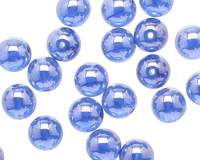 Czech Glass Luster Sapphire Round 8mm
