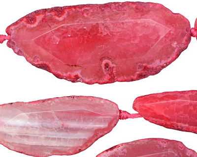 Pink Agate Natural Edge Freeform Faceted Slab 47-70x28x40mm