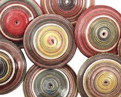 Paper Bead Saucer 13x38mm