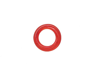African Recycled Glass Tomato Red Dogun Mini Ring 10-14mm
